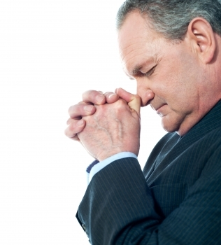 man praying for long life