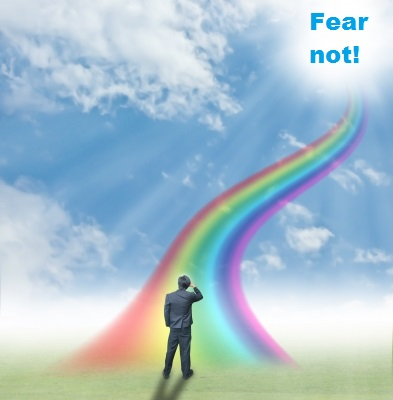 man seing vision of fear not